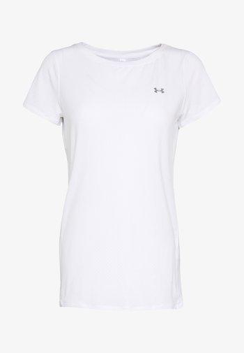T-shirt basic - white/metallic silver