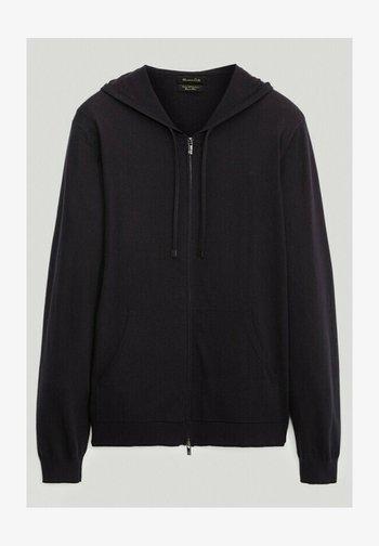 Zip-up hoodie - blue-black denim