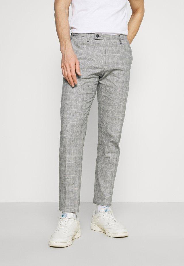 BRAVO - Kalhoty - light grey/blue