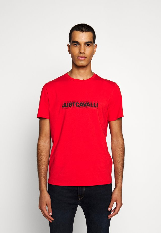Print T-shirt - grenadine red