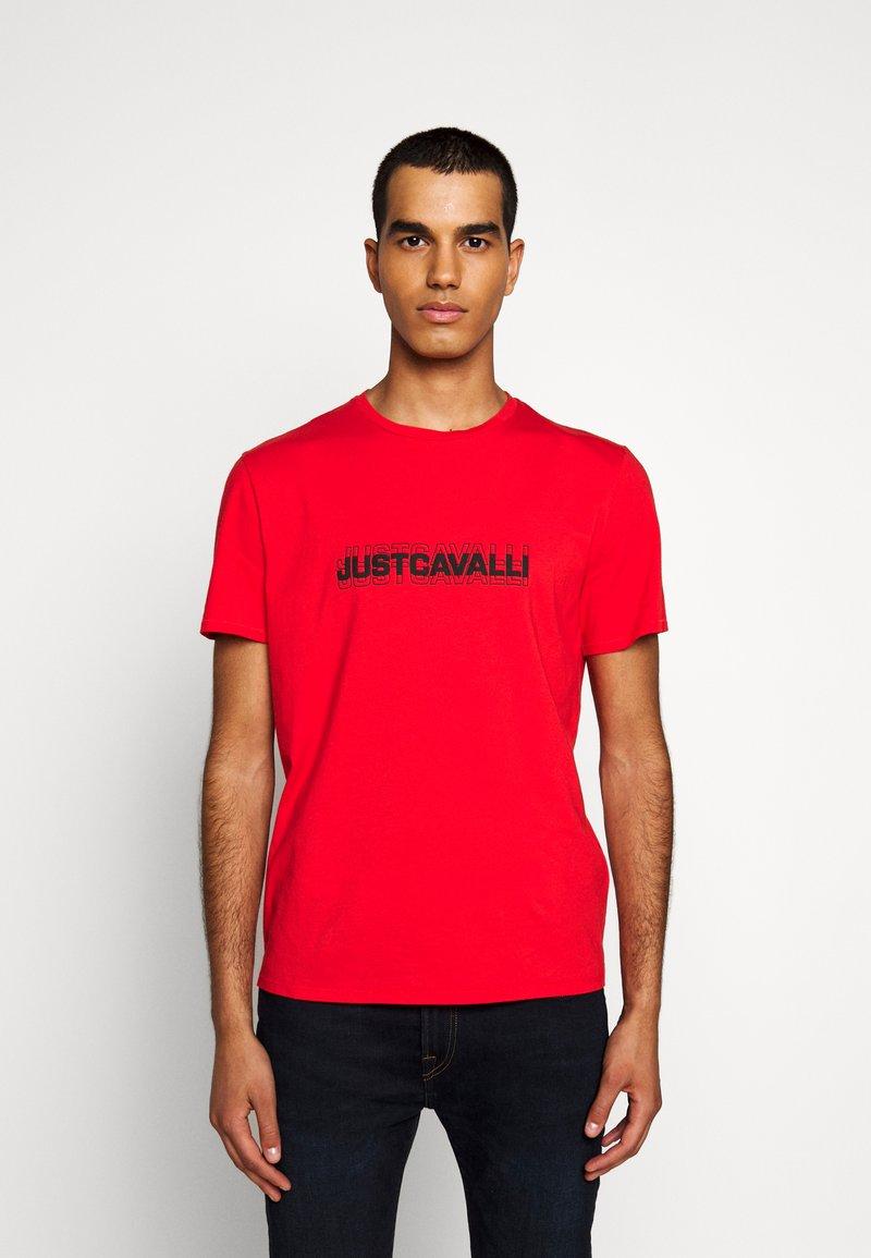 Just Cavalli - Print T-shirt - grenadine red