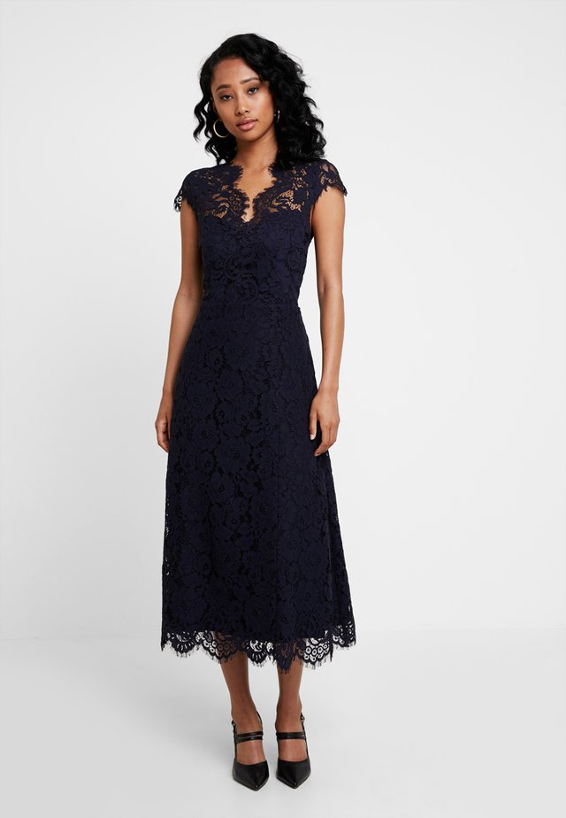 FLARED DRESS CAP SLEEVE - Occasion wear - navy blue