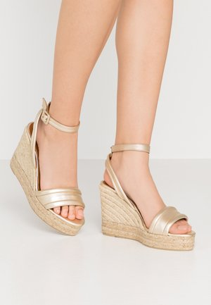 BRISA - Sandaler med høye hæler - champagne