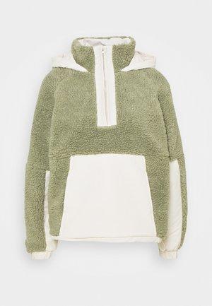 OVERSIZED BORG MIX - Light jacket - sage