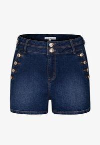 Morgan - Denim shorts - blue denim - 4