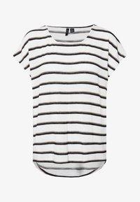 Vero Moda - VMWIDE KATHY STRIPE  - Print T-shirt - snow white - 4