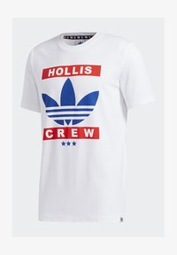 adidas Originals - RUN DMC TEE - T-shirt z nadrukiem - white /black /scarlet red - 6