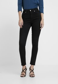 NA-KD - HIGH WAIST - Jeans Skinny Fit - black - 0