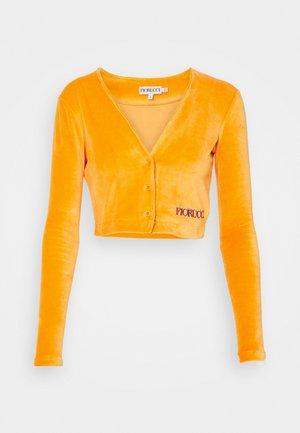 LOGO CARDIGAN - Bluza rozpinana - orange