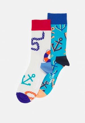 JUMBO MARINE SOCK/BIG ANCHOR SOCK UNISEX 2 PACK - Ponožky - multi