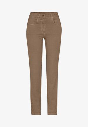 Straight leg jeans - taupe varied