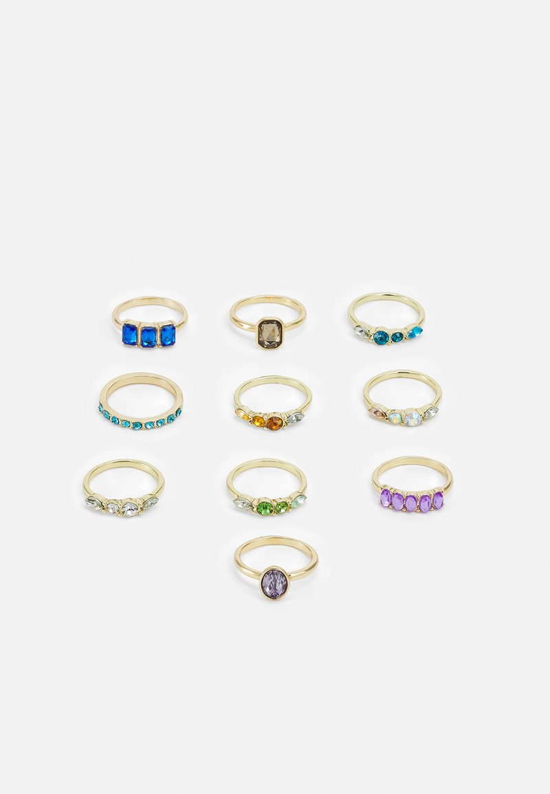 Pieces - PCLALOU 10 PACK - Ring - gold-coloured/multi
