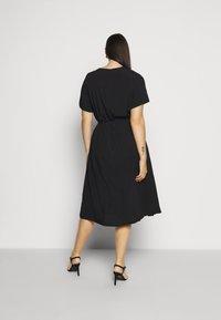 ONLY Carmakoma - CARTUKZU CALF SHIRT DRESS - Shirt dress - black - 2