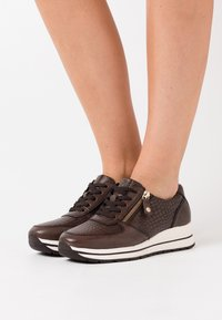 Tamaris Pure Relax - LACE UP - Trainers - cafe/croco - 0