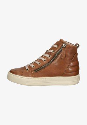 Sneakers hoog - cognac/braun