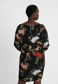 ONLY Carmakoma - CARLUXANNA KNEE DRESS - Day dress - black flower - 3