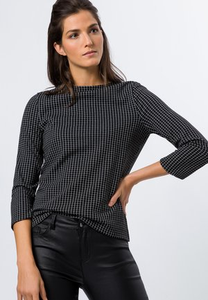 U-BOOT AUSSCHNITT - Long sleeved top - black