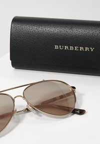 Burberry - Lunettes de soleil - gold/brown mirror rose gold - 3