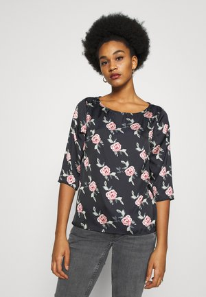 VIKAT 3/4 SLEEVE - Blouse - black