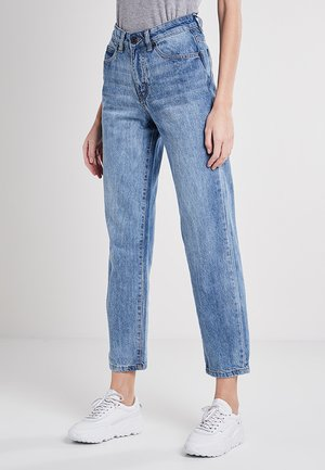 Straight leg jeans - mid stone wash