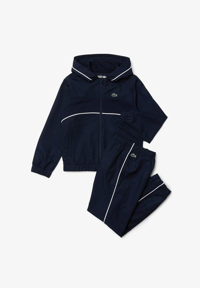 Lacoste Sport - Tracksuit - navy blau / weiß