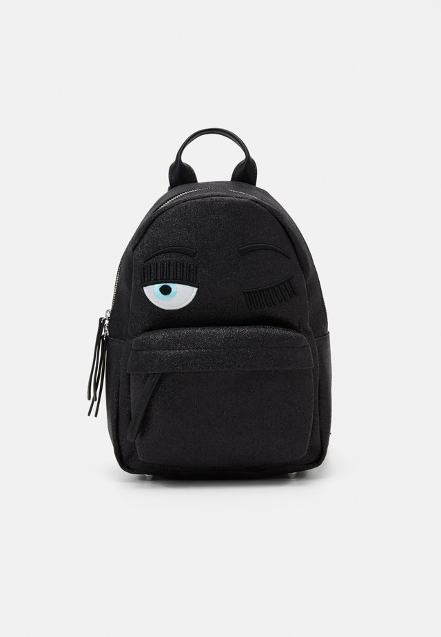 SMALL FLIRTING GLITTER BACKPACK - Mochila - black