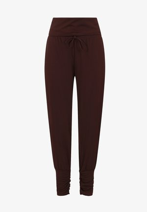 ROLL TOP HAREM YOGA - Broek - chocolate