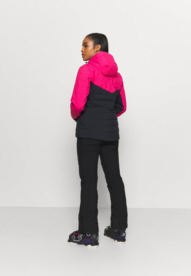 LADIES SKI JACKET - Laskettelutakki - black/frozen berry/white