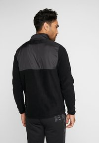 Penn - MEN'S BLOCKED POLAR ZIP - Fleece jumper - black