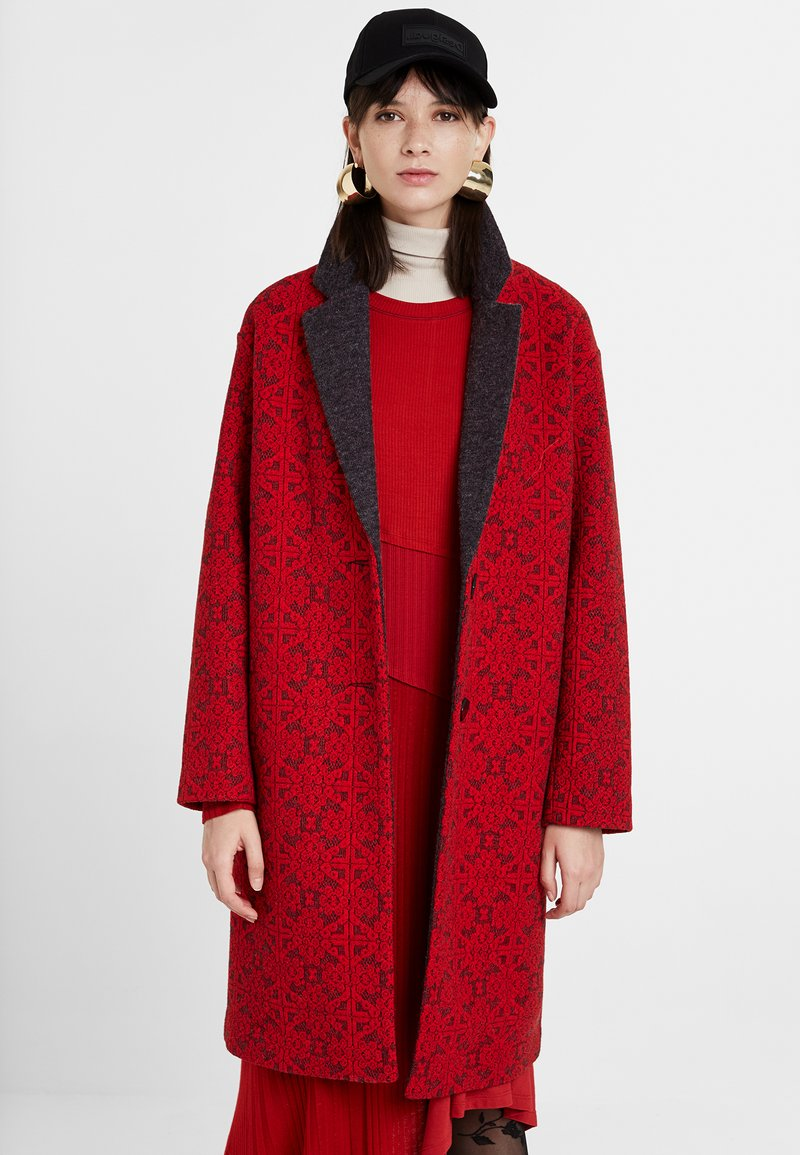 Desigual - AREN - Zimní kabát - red
