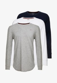Hollister Co. - Top s dlouhým rukávem - grey/white/navy - 5