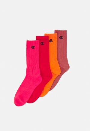 PASTEL CREW SOCKS 4 PACK UNISEX - Sports socks - shades of red