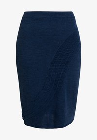 Yargici - PENCIL SKIRT - Jupe crayon - navy melange - 3