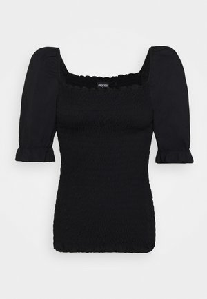 PCLIKA SMOCK - Blouse - black