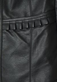 Wallis - VICTORIANA FRILL - Faux leather jacket - black - 2