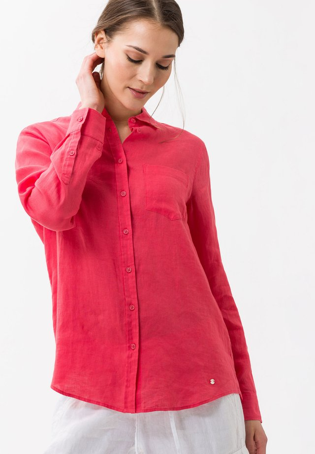 VICTORIA - Button-down blouse - papaya