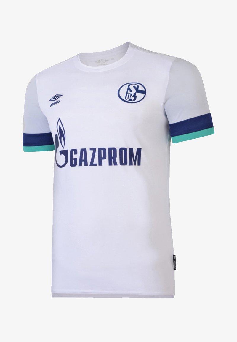 Umbro - REPLICAS - TRIKOTS - NATIONAL FC SCHALKE 04 TRIKOT AWAY KI - Print T-shirt - weiss
