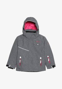 TrollKids - GIRLS HOVDEN JACKET - Ski jacket - grey melange/magenta - 5