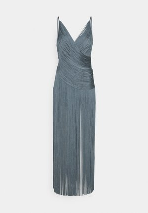 DRAPED FRINGE DEEP GOWN - Occasion wear - abalone