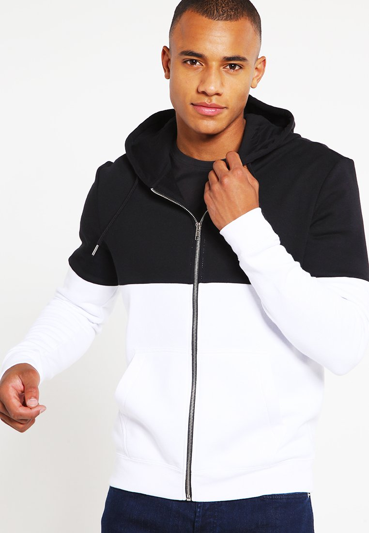 YOURTURN - Zip-up hoodie - black/white