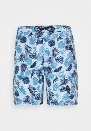 PALM PRINTED - Shorts - light blue