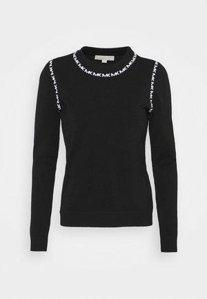 LOGO TRIM CREW - Sweter - schwarz