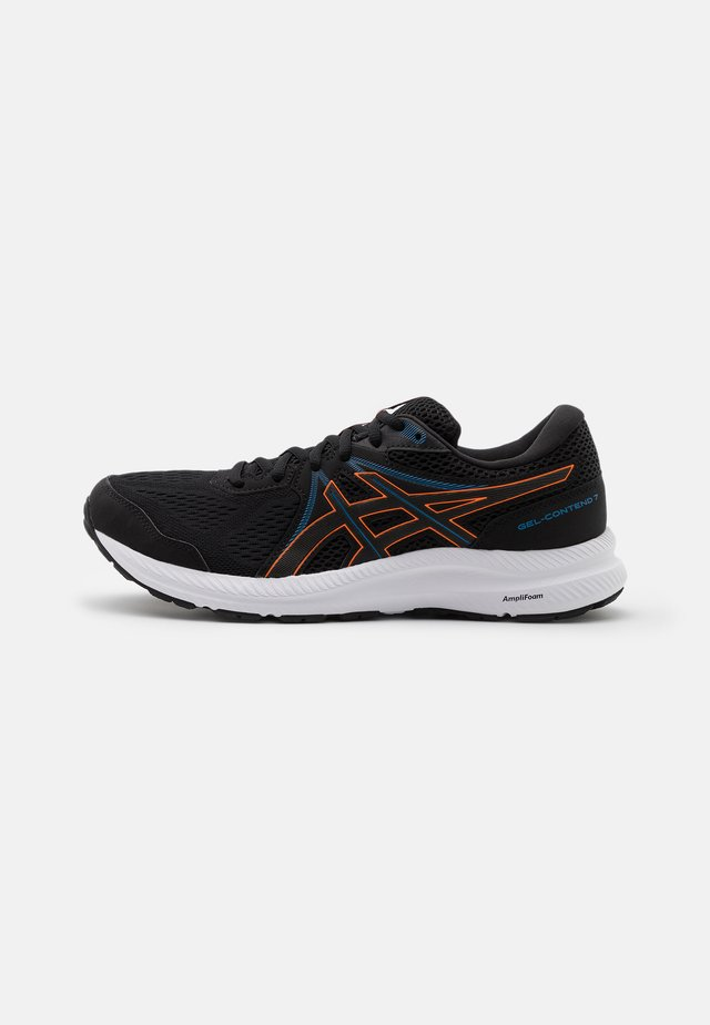 GEL CONTEND 7 - Neutral running shoes - black/marigold orange