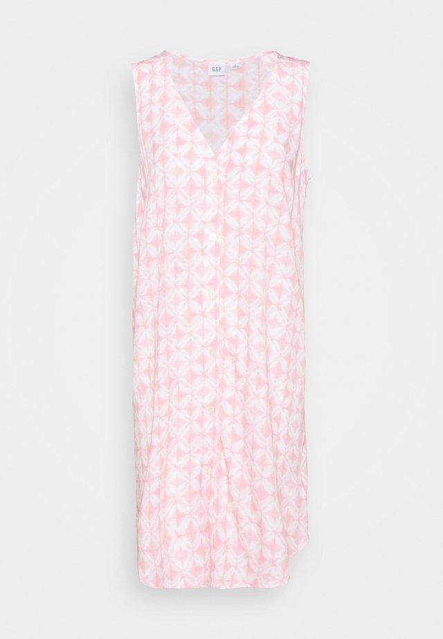 BUTTON SHIFT DRESS - Sukienka letnia - pink