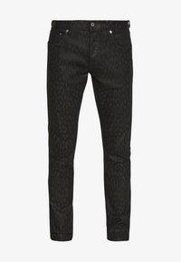 Just Cavalli - ANIMAL PATTERN PANTS 5 POCKETS - Jeans Slim Fit - black - 4