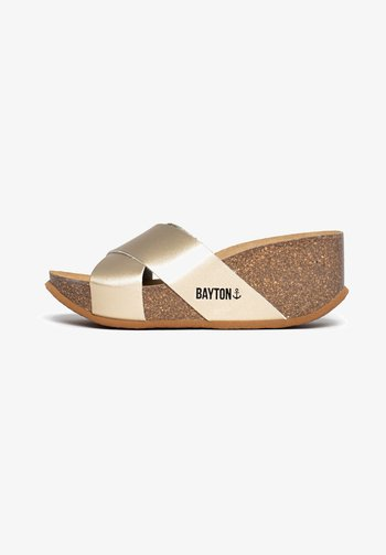 LIVERPOOL - Heeled mules - gold