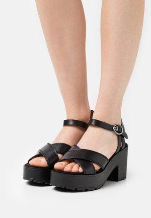 EMELINE - Platform sandals - black
