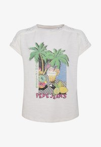 Pepe Jeans - MONIQUE - Camiseta estampada - off-white - 0
