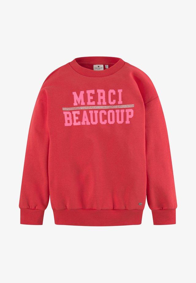 Sweatshirt - bittersweet|red
