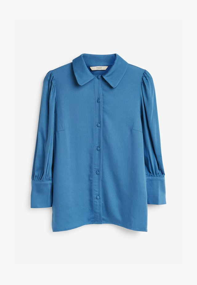CURVED - Button-down blouse - blue